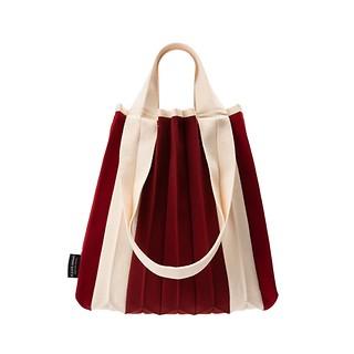 #단청 레드 / Knit Pleats TW Shopper S RD